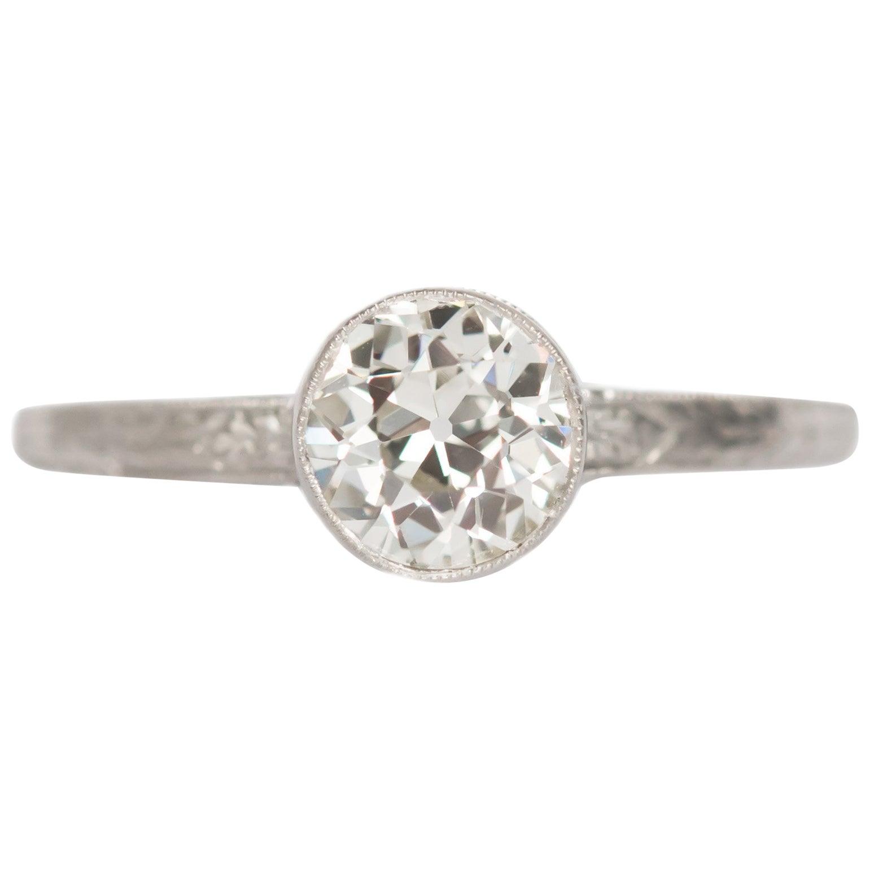 GIA Certified .71 Carat Diamond Platinum Engagement Ring
