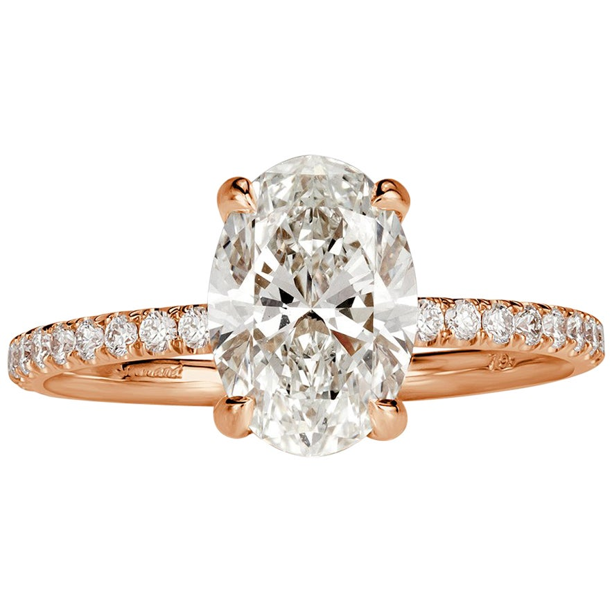 Mark Broumand 2.20 Carat Oval Cut Diamond Engagement Ring