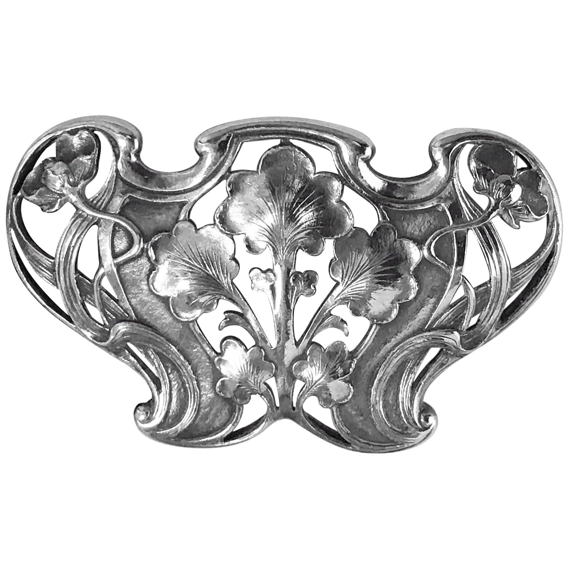 Gorham Art Nouveau Sterling Buckle, 1902