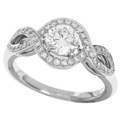 Harry Winston Lily Cluster by HW Round Brilliant Diamond Platinum Ring