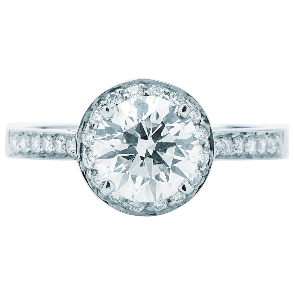 Tiffany & Co. Legacy Round Center Engagement Ring '1.36 Carat Center GVVS2'