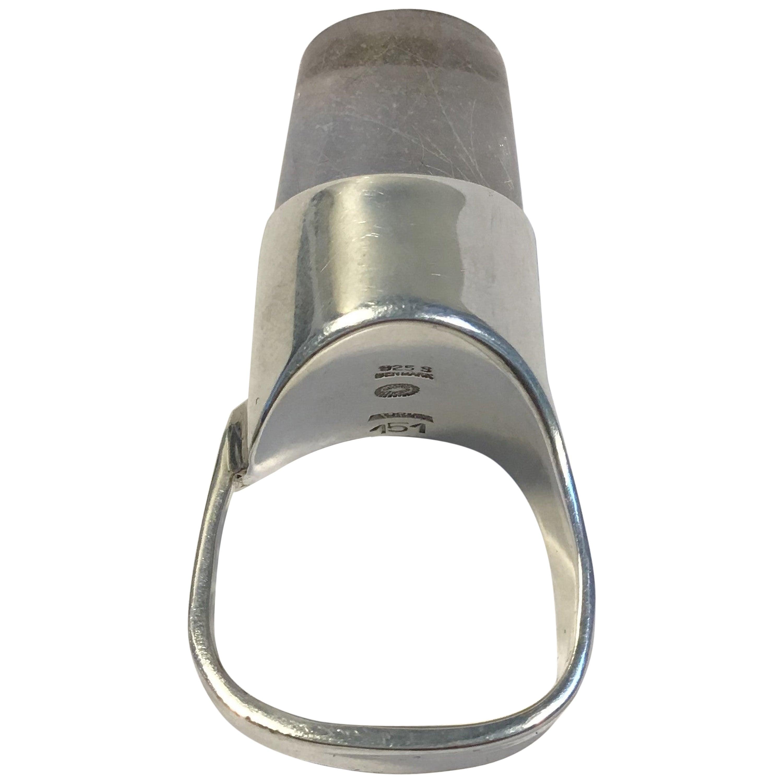 Georg Jensen Sterling Silver Ring No 151 with Rutile Quarts Torun