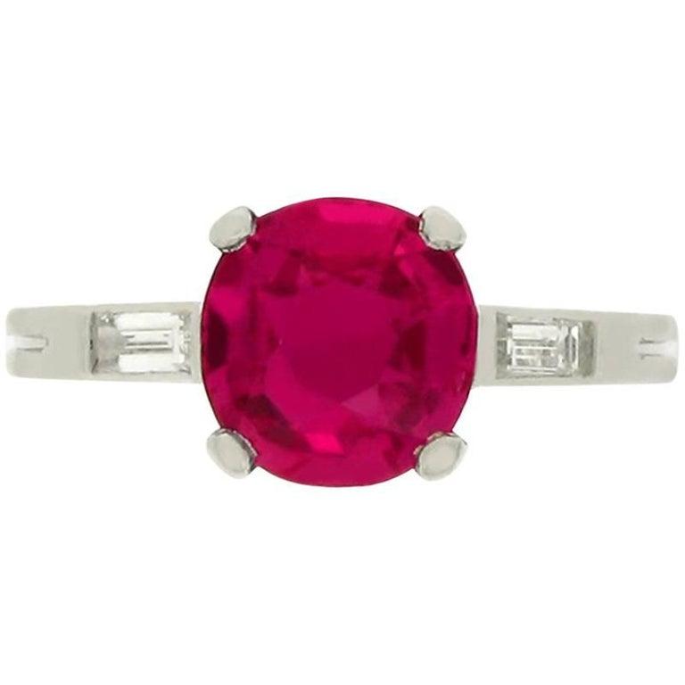 Boucheron Natural Burma Ruby Diamond Ring