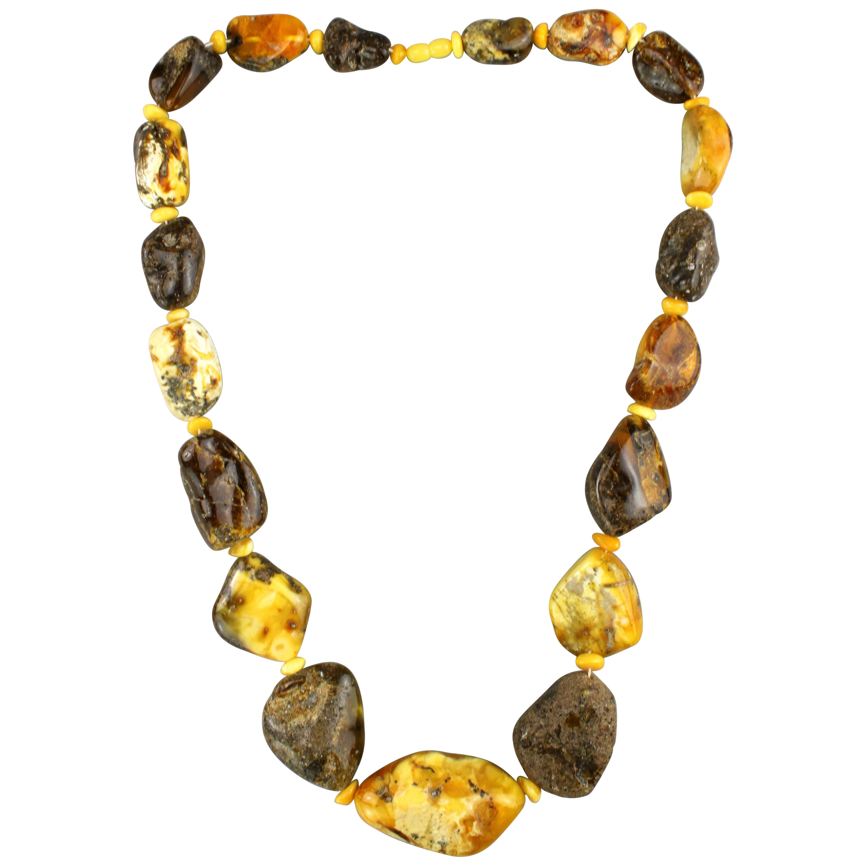 Loppe Natural Baltic Unpolished Amber Necklace
