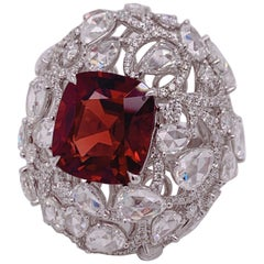 GRS Certified 7.5 Carat Unheated Spinel Ring