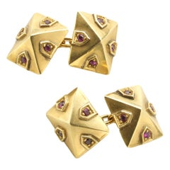 Van Cleef & Arpels Ruby Gold Cufflinks