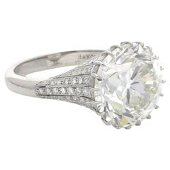Hancocks 8.03 Carat Old European Brilliant Cut Diamond Ring