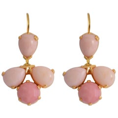 Emma Chapman Pink Opal Drop Earrings
