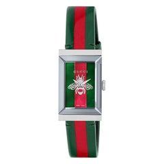 Gucci G-Frame Leather Strap Watch YA147408
