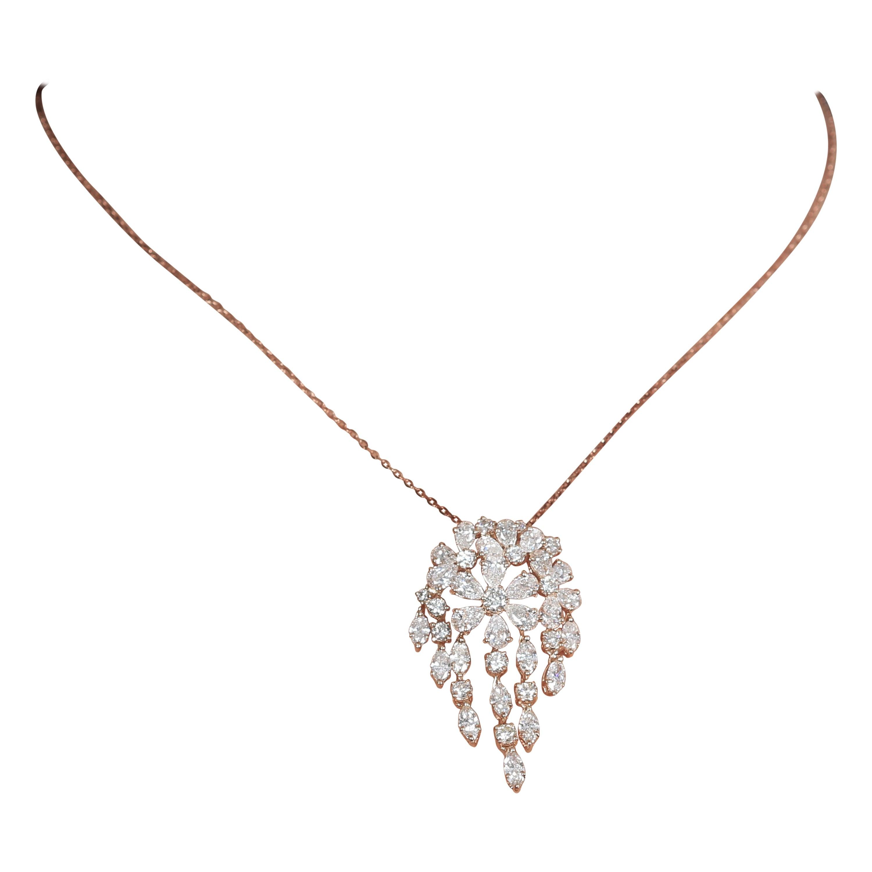 Amwaj Rose Gold 18 Karat Pendant with Diamond