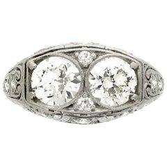 Bailey, Banks & Biddle 1920s Two-Stone Diamond Ring