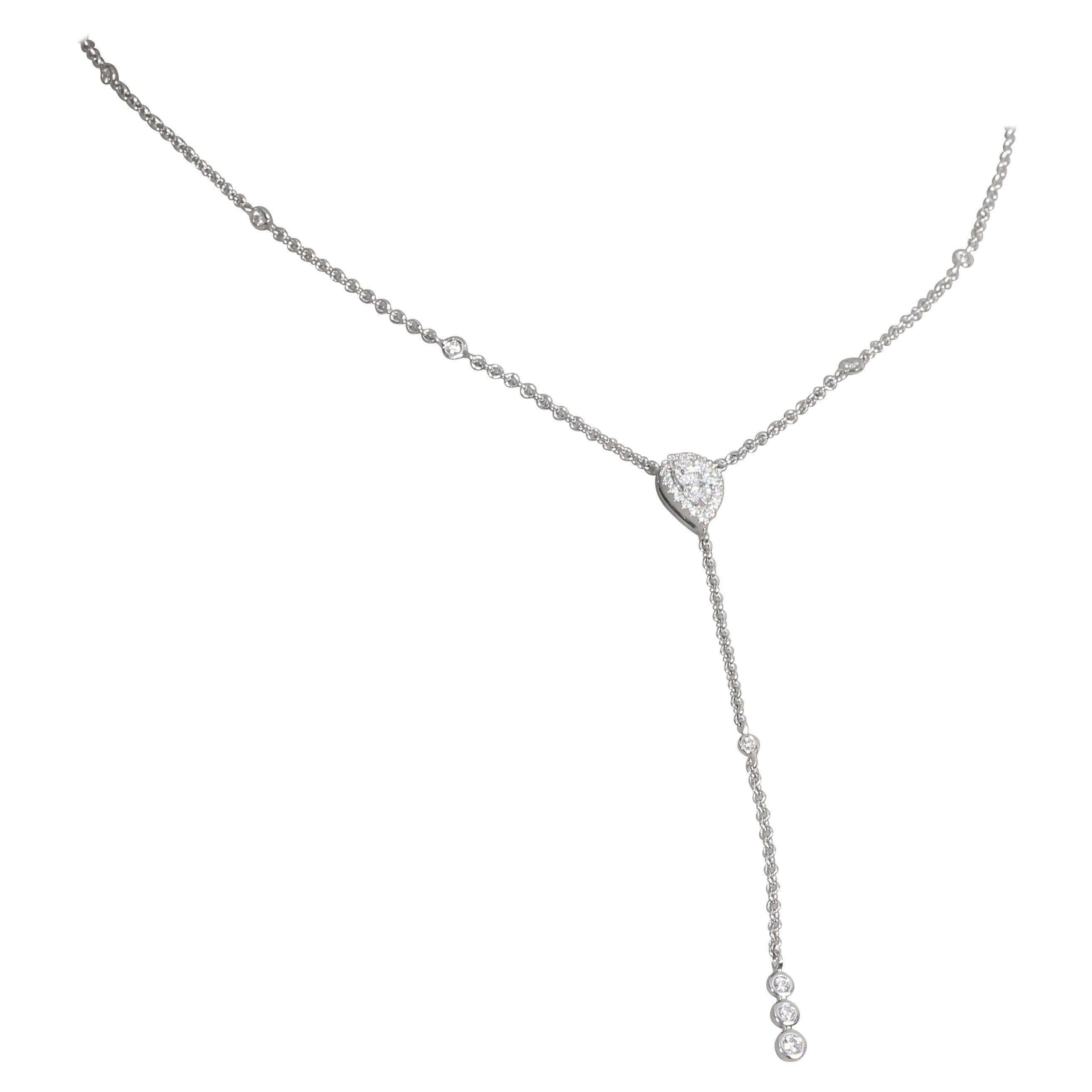 Amwaj White Gold 18 Karat Necklace with Diamonds