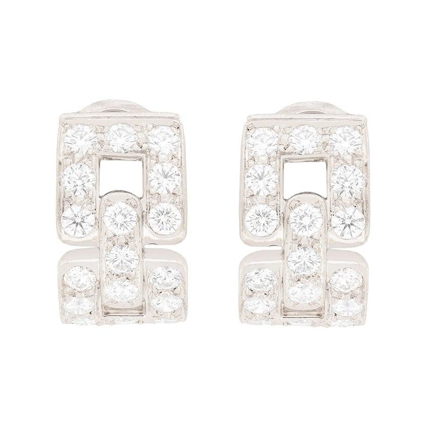 Tiffany & Co. Hoop Huggie Deco Style Earrings
