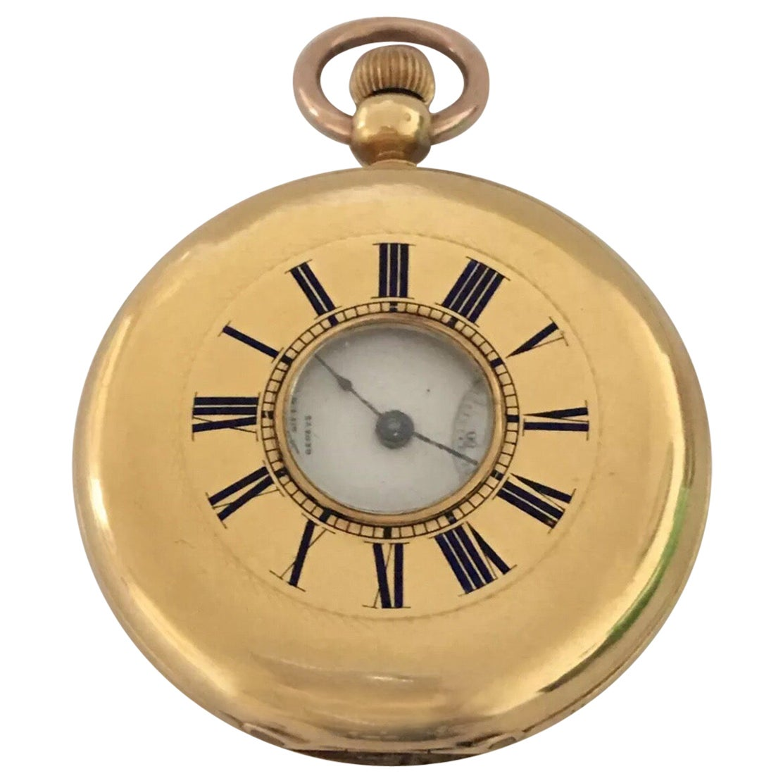 18 Karat Gold Patek, Philippe & Co. Geneve Half Hunter Pocket Watch