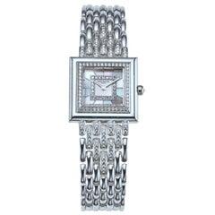Patek Philippe 18 Karat White Gold and Diamond Wristwatch