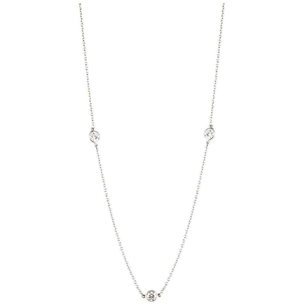 Tiffany & Co. Elsa Peretti Diamond Platinum Necklace