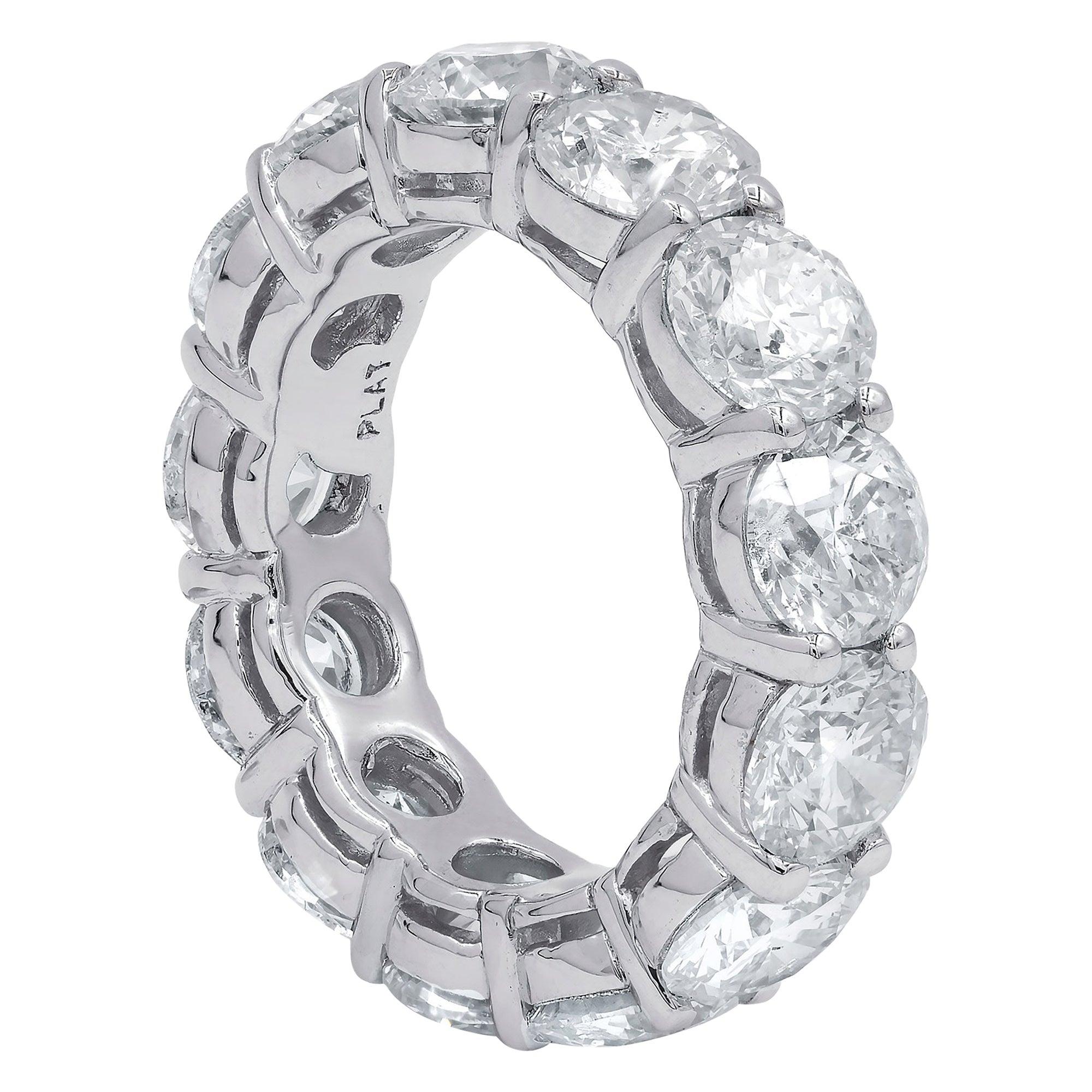 Platinum GIA Certified 13.14 Carat Diamond Eternity Band, 'D-F VVS-VS'