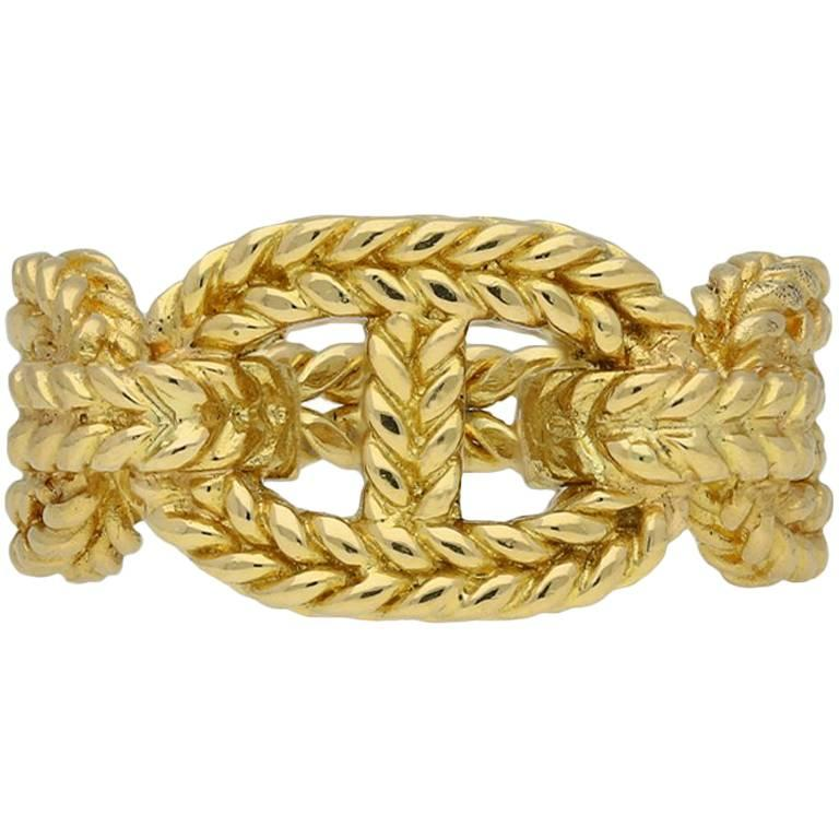 Hermes Gold Rope Anchor Ring
