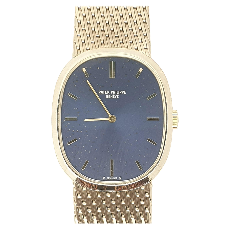 Vintage Patek Philippe Ellipse 18 Karat White Gold Bracelet Watch
