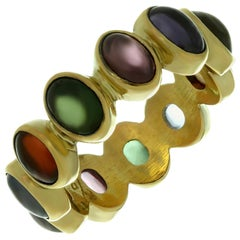 Reinstein/Ross Multi-Color Gemstone 20 Karat Yellow Gold Renaissance Ring