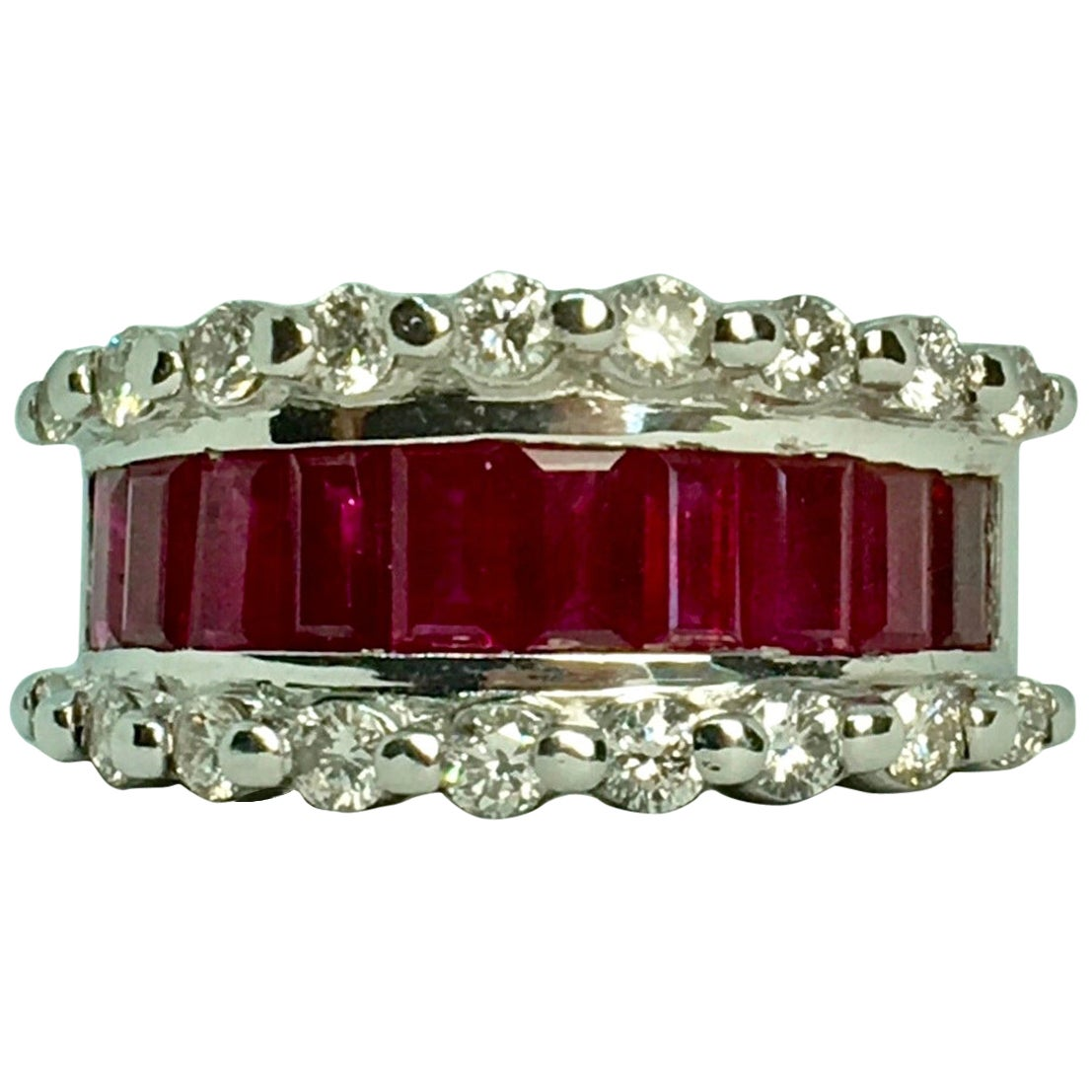 Finest Ruby and Diamond Band Ring