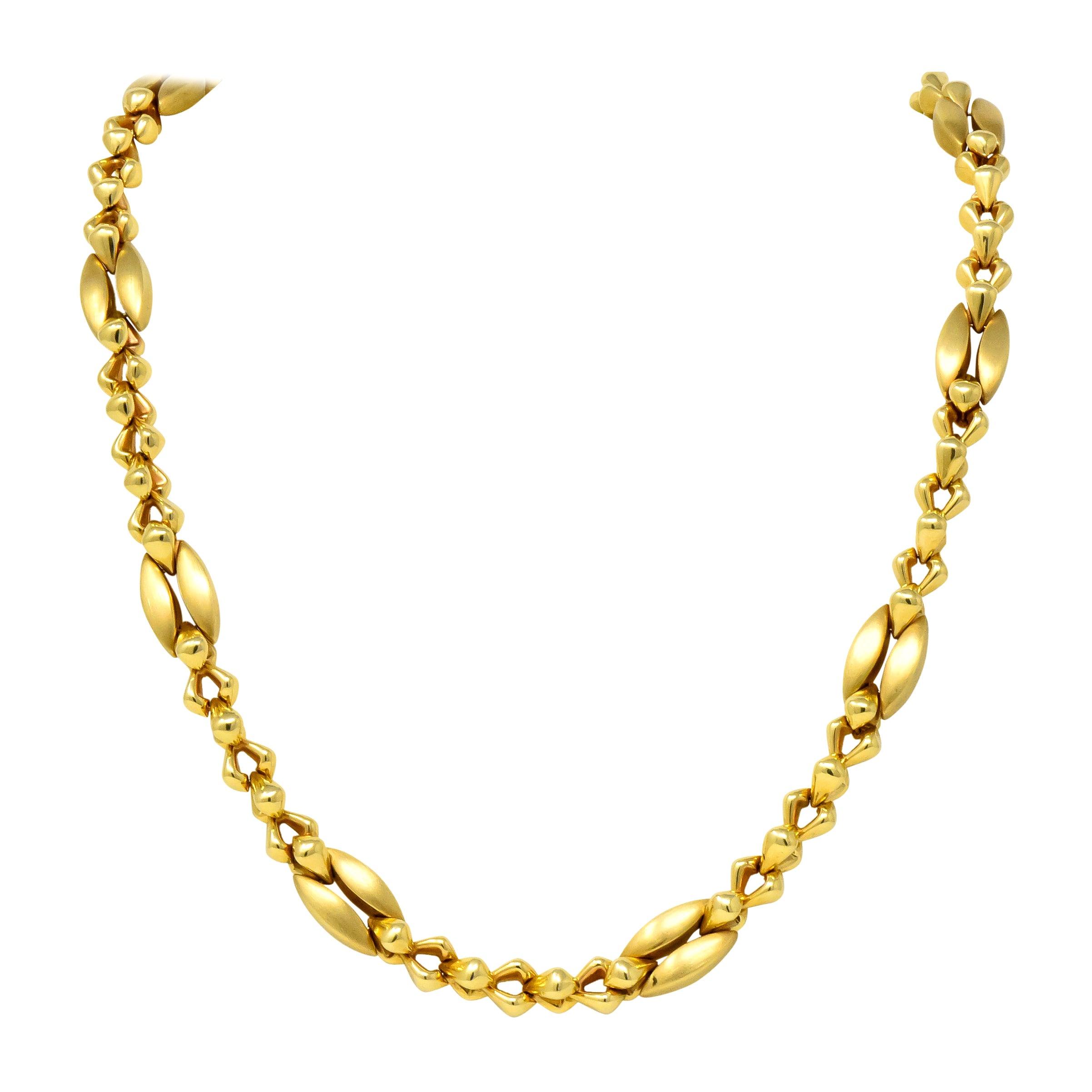 Tiffany & Co. 14 Karat Gold Bold Long Link Necklace, circa 1980
