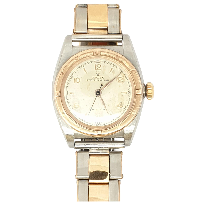Vintage Rolex Bubble Back 3372 Chronometer Watch