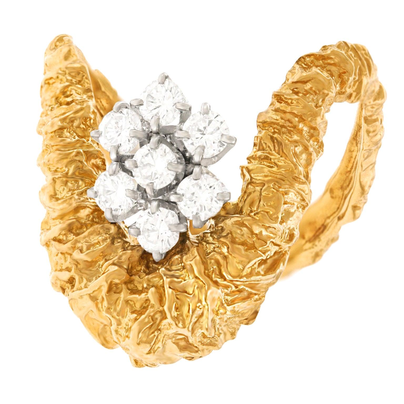 Gilbert Albert Abstract Diamond Set Ring