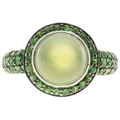 Crivelli Peridott Tsavorite Garnet Gold Cocktail Ring