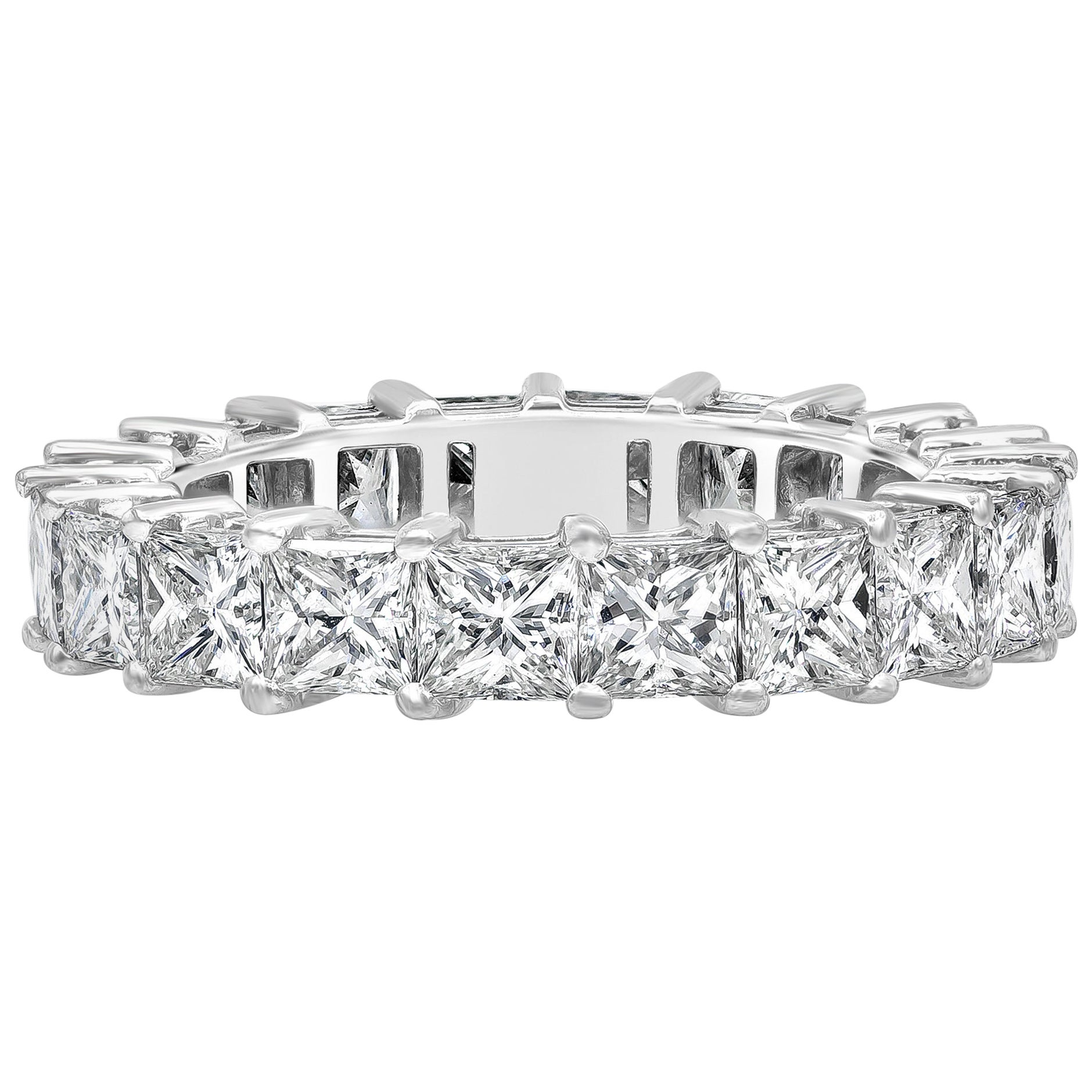 Roman Malakov Princess Cut Diamond Eternity Wedding Band