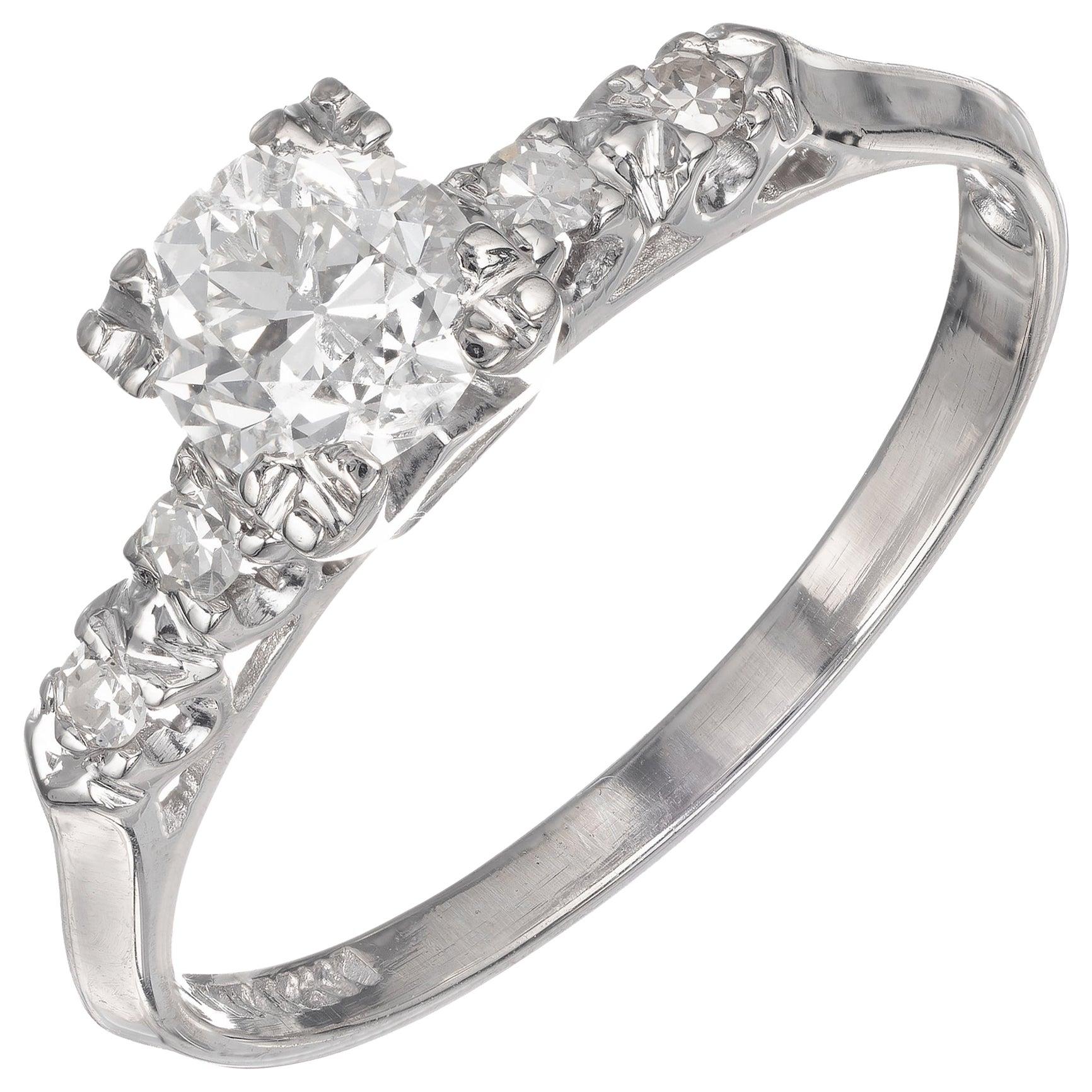 EGL Certified .57 Carat Diamond Platinum Engagement Ring