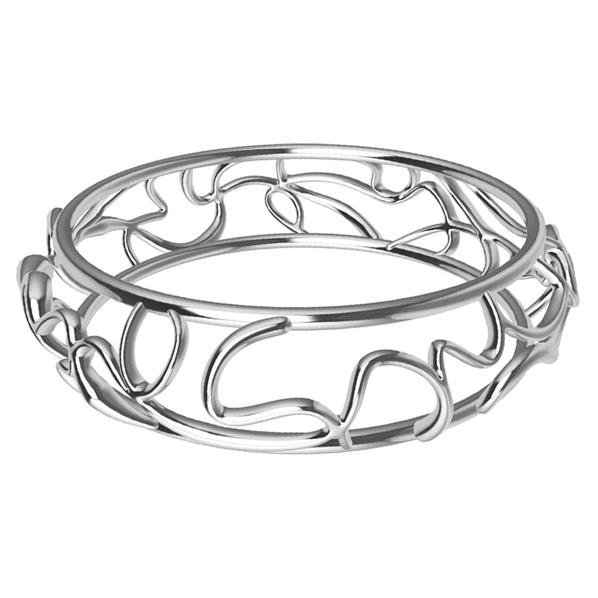 18 Karat White Gold Oceans Bangle
