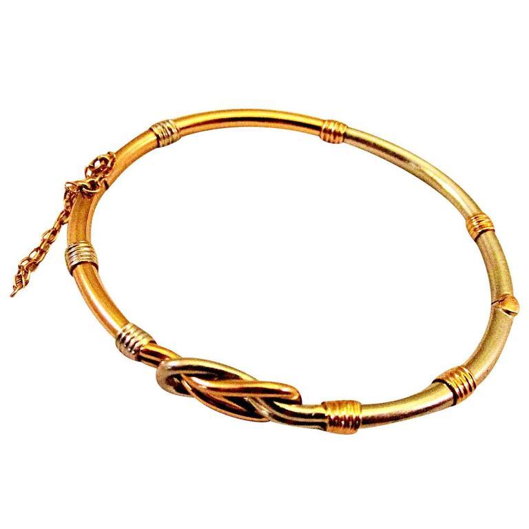Antique Gold Platinum Bangle Bracelet For Sale At 1stdibs