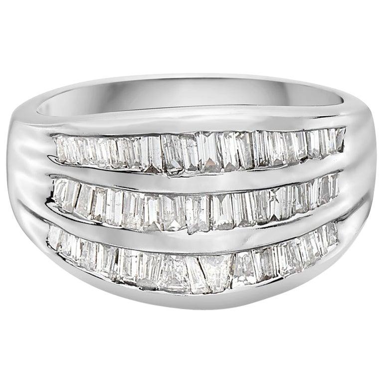2.00 Carat 3-Row Channel Set Semi Eternity Diamond Band Ring