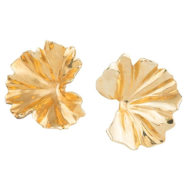 JAR Geranium Leaf Earrings For Sale