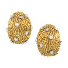Van Cleef and Arpels 18k Diamond Dome Earrings