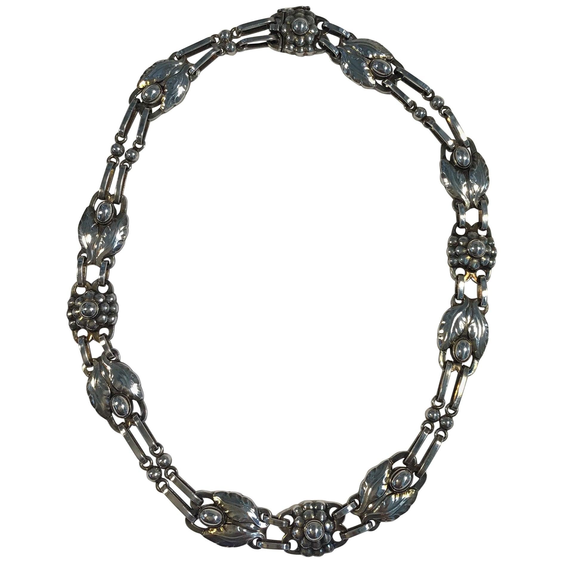 Georg Jensen Sterling Silver Necklace No. 1