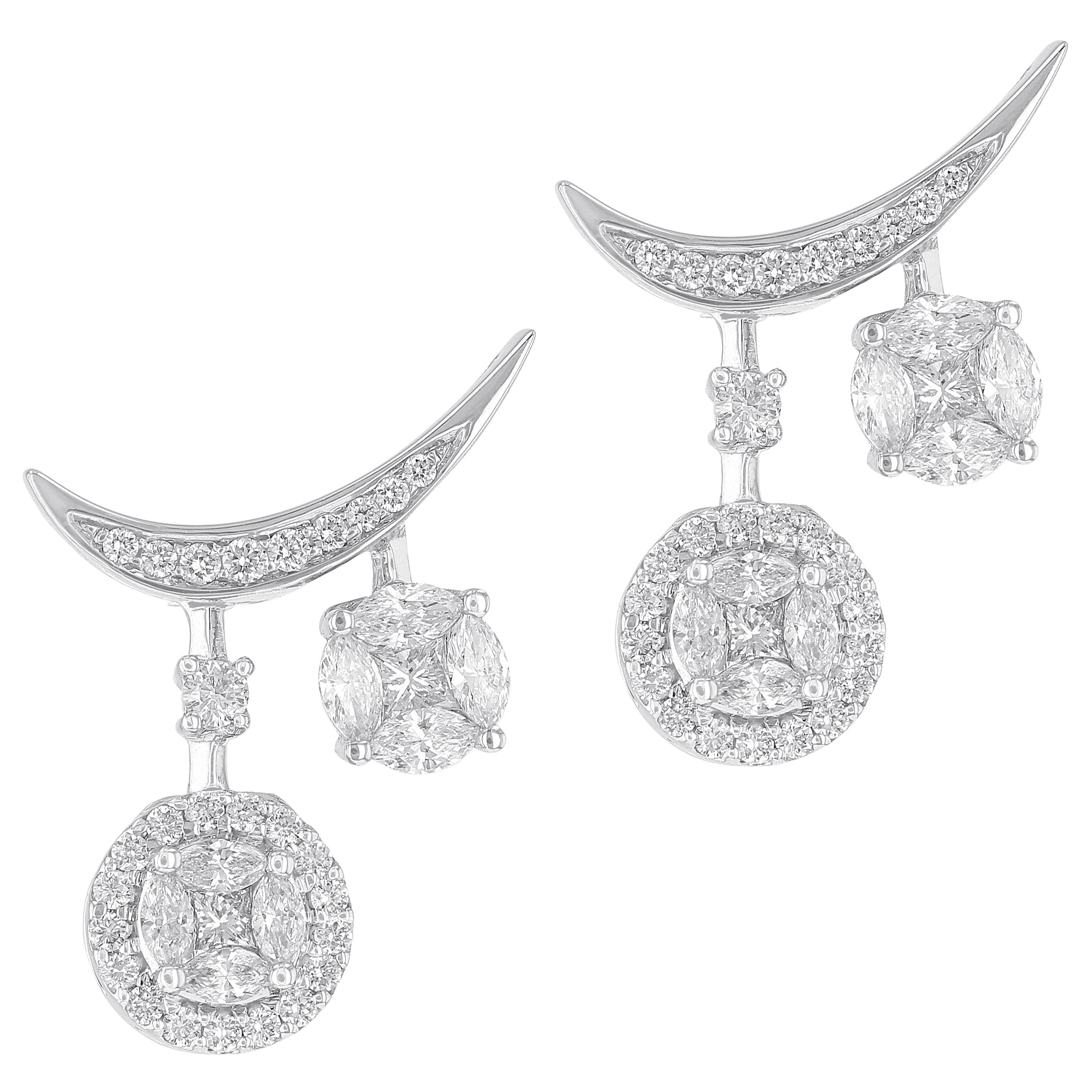 Amwaj Jewelry Round Diamond Earrings