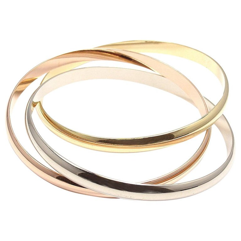 0cb1fbce26d77 Cartier Trinity Three-Color Gold Bangle Bracelet
