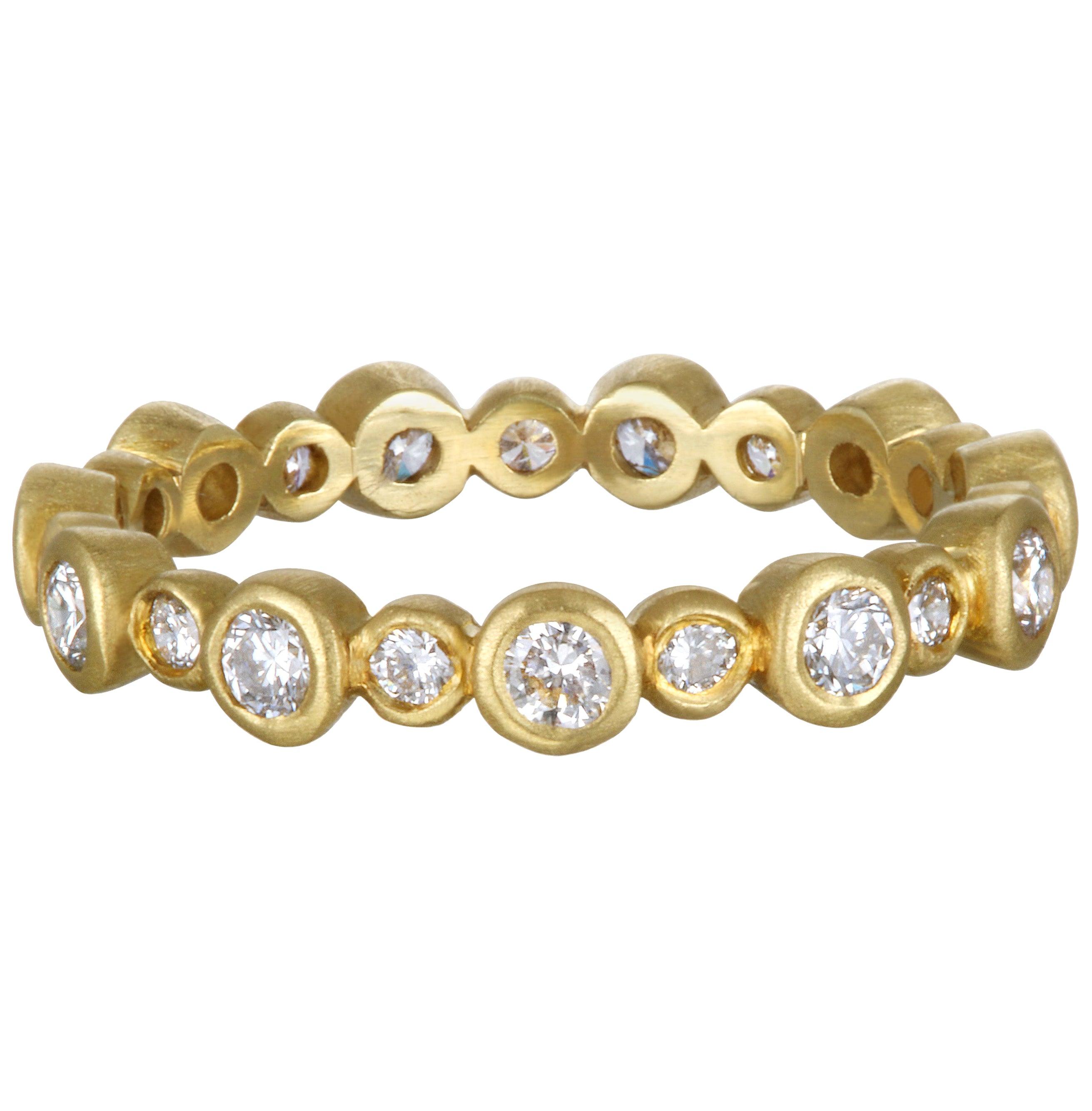 Faye Kim 18 Karat Gold Diamond Eternity Band Ring