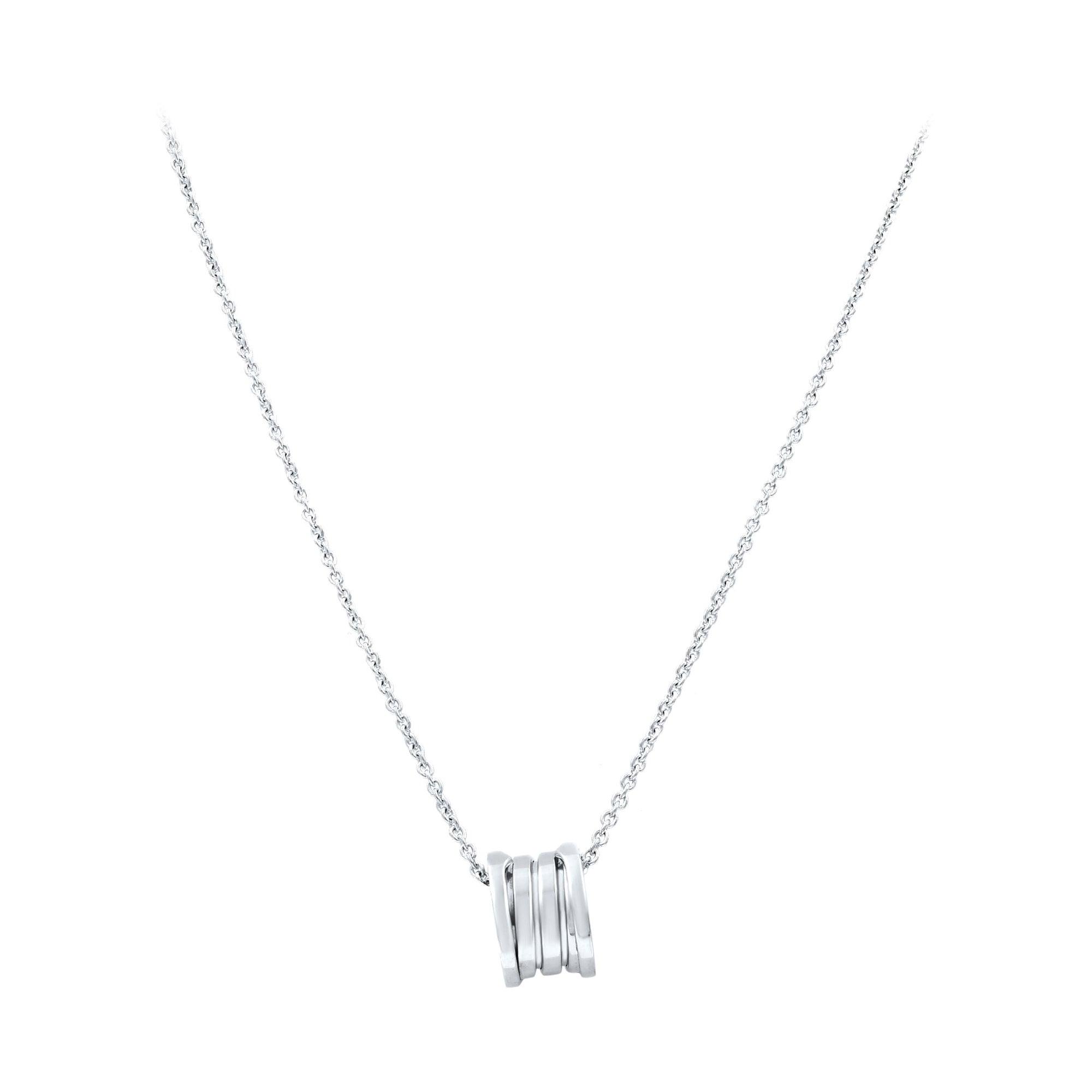 Bvlgari B.Zero1 18 Karat White Gold Pendant Necklace