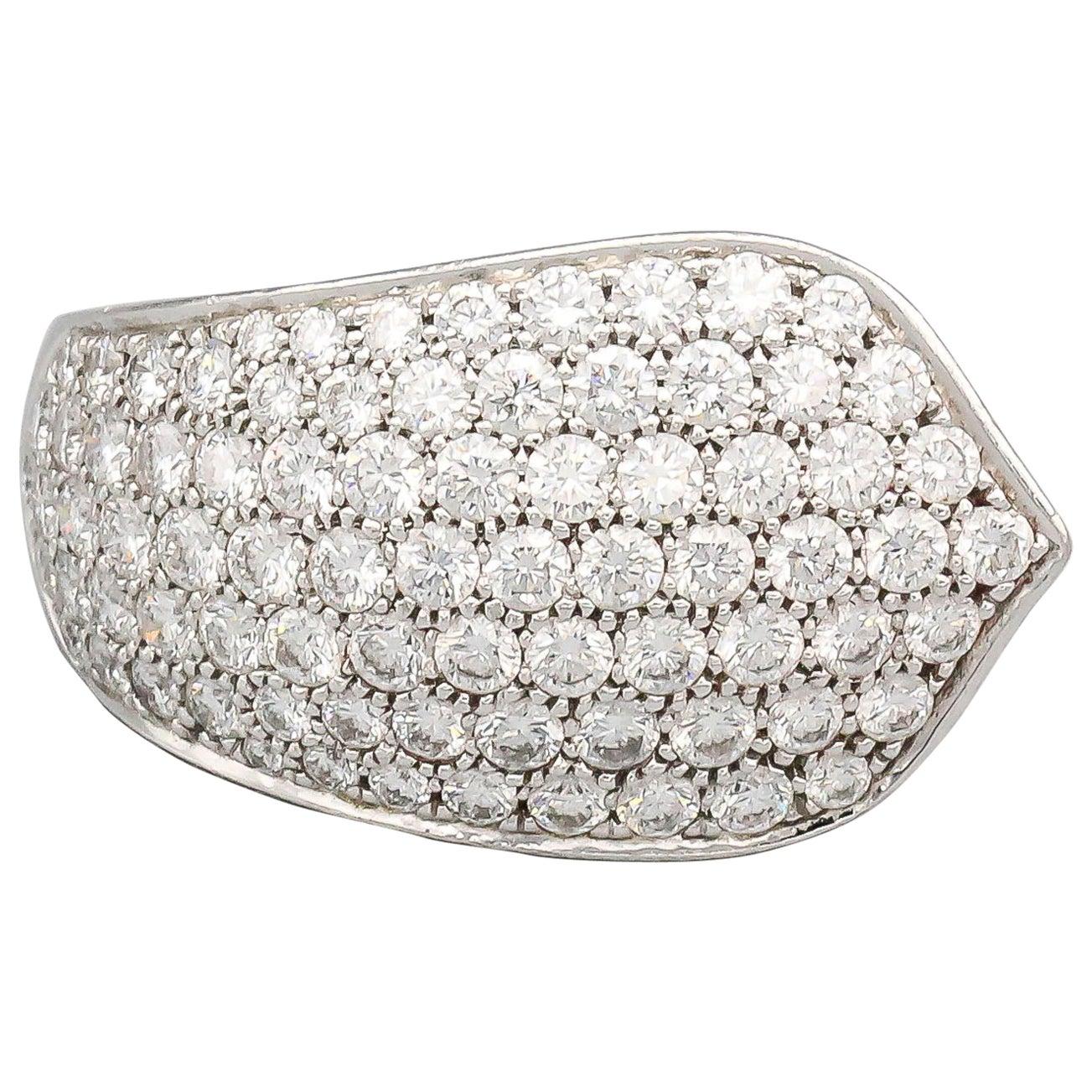 Cartier Diamond and 18 Karat White Gold Ring
