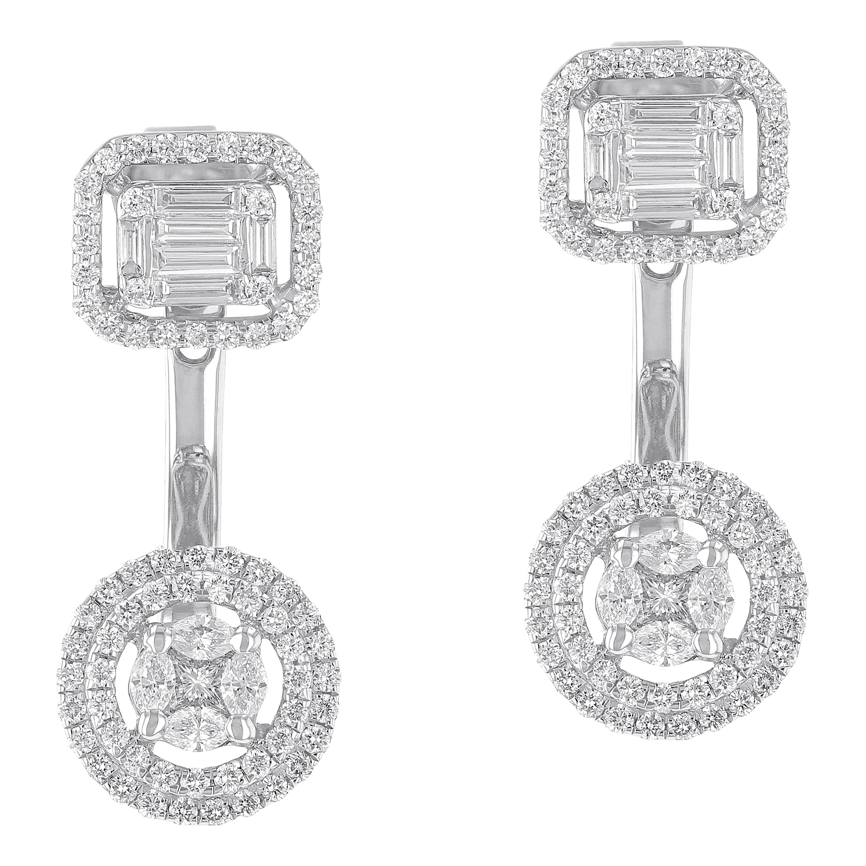 Amwaj White Gold Earring with Diamonds