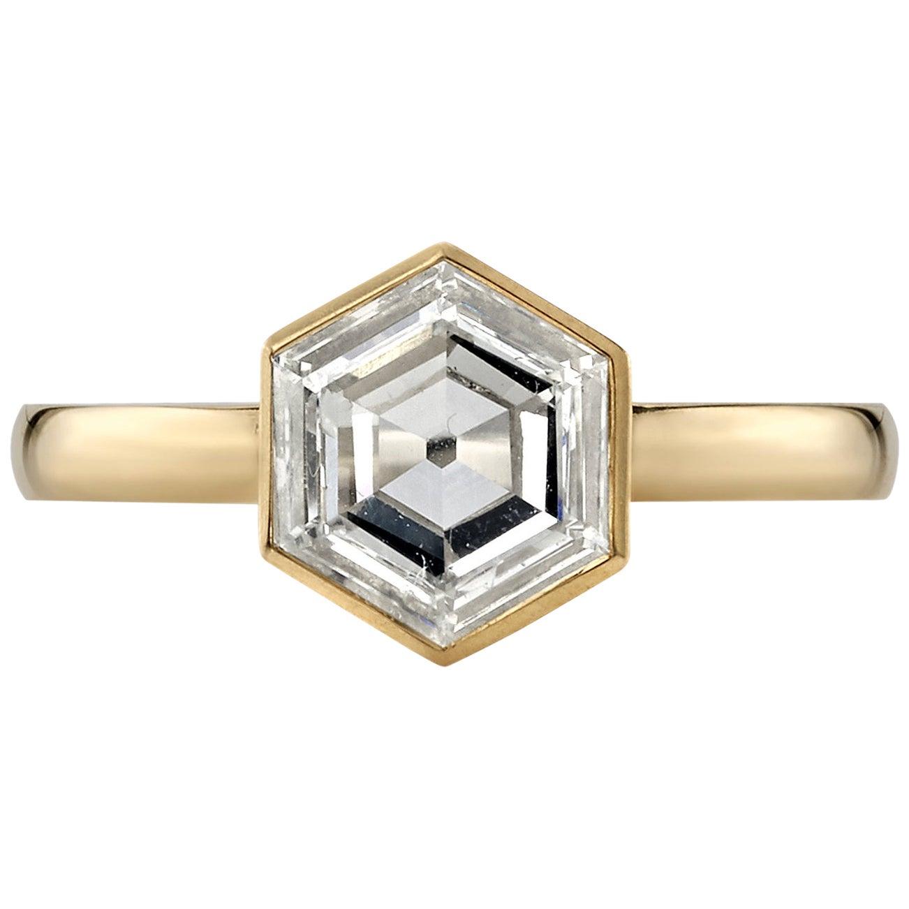 1.18 Carat GIA Certified Hexagonal Cut Diamond Set in an 18 Karat Gold Ring