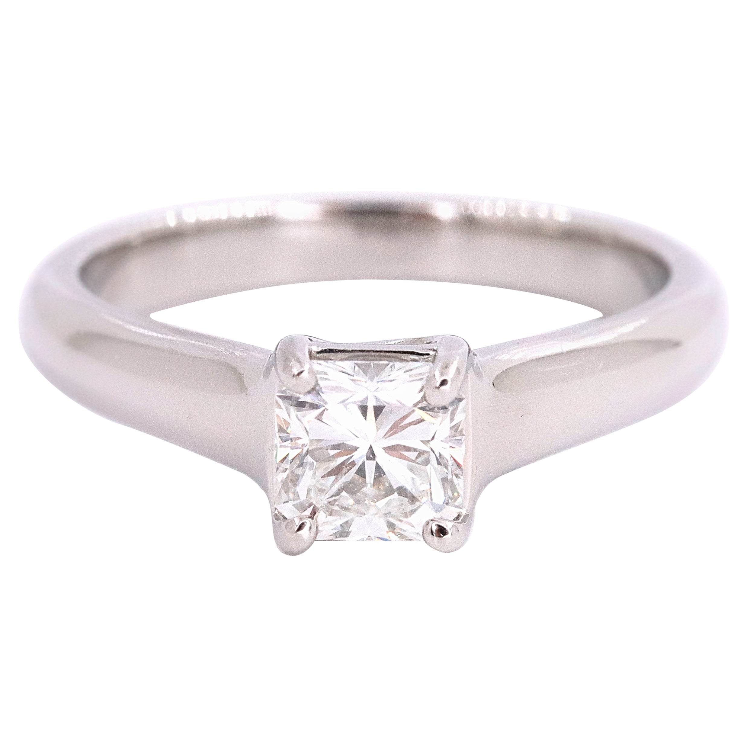 Tiffany & Co. Lucida Diamond 0.56 Carat Engagement Ring Platinum
