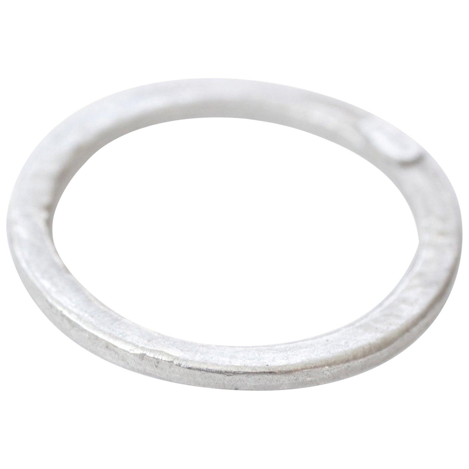 Sterling Silver Medium Band Ring Stacking Fashion Unisex Design for Men Women