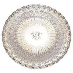 Tiffany & Co. Pierced and Engraved Footed Sterling Silver Tray