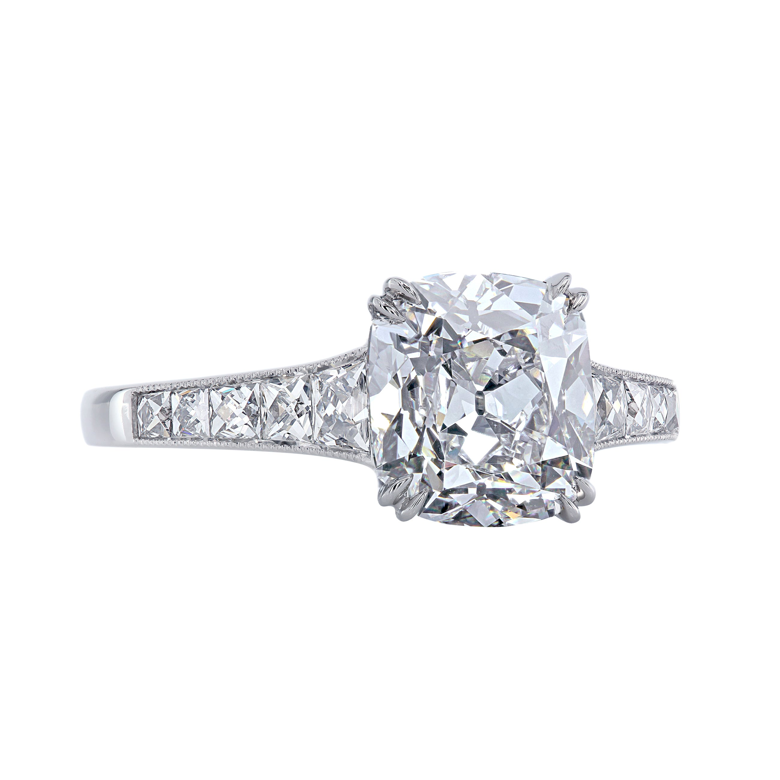 Leon Mege 6 Carat Cushion Diamond Bespoke Engagement Solitaire Platinum Ring