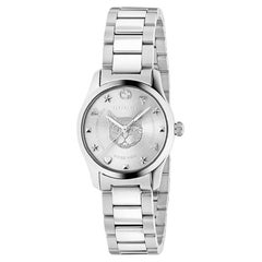 Gucci G-Timeless Silver Dial Ladies Watch YA126595