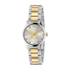 Gucci G-Timeless Ladies Two-Tone Watch YA126596